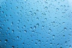 Água da gota no vidro Imagem de Stock