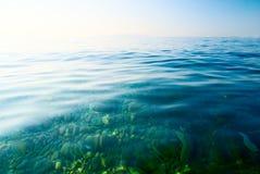 Água da manhã do mar imagem de stock royalty free