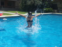 Água da menina Foto de Stock Royalty Free