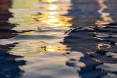 água da reflexão do sol Imagens de Stock Royalty Free