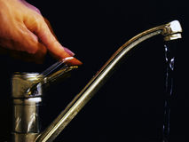 Água da torneira Fotografia de Stock Royalty Free
