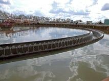 Água de água de esgoto do tratamento Foto de Stock Royalty Free