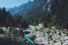 Água de Bovec fotografia de stock