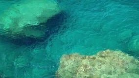 Água de cristal clara, ilha de Mallorca, Balearic Island, Espanha video estoque
