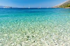 Água de cristal do mar de adriático Foto de Stock