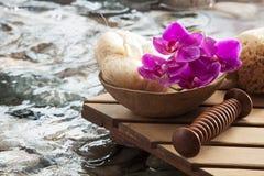 Água de energização para refinar a massagem Fotografia de Stock Royalty Free
