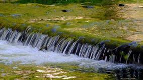 Água de fluxo no Weir vídeos de arquivo