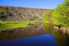 Água de fluxo de pouco rio fotografia de stock