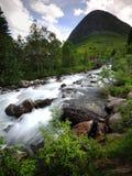 Água de fluxo rápida de Trollstigen Imagem de Stock