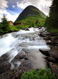 Água de fluxo rápida de Trollstigen Fotografia de Stock Royalty Free