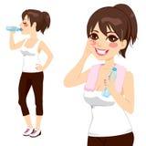 Água de garrafa bebendo Foto de Stock