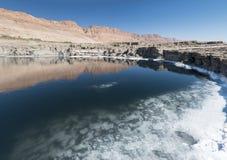 A água de Mar Morto modela a textura Imagens de Stock