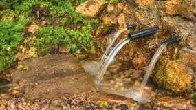 Água de mola potável fotografia de stock