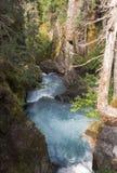 Água de pressa no desfiladeiro íngreme Fotos de Stock Royalty Free