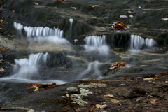 Água de seda da área de Gordon Fall, montanhas brancas, New Hampshire Foto de Stock