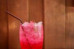 Água de soda vermelha Fotografia de Stock