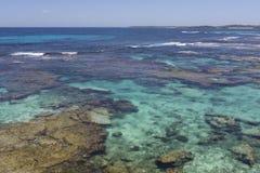 Água de turquesa na ilha de Rottnest, Austrália Ocidental, Austrália foto de stock royalty free