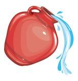 Água de um vetor do potenciômetro de argila ilustração royalty free
