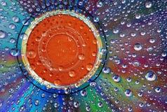A água deixa cair o fundo Foto de Stock