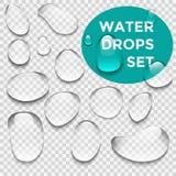A água deixa cair o grupo realístico Fotografia de Stock