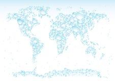 A água deixa cair o mapa Fotos de Stock Royalty Free