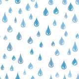 A água deixa cair o teste padrão sem emenda Fundo do pingo de chuva Textura da chuva Imagem de Stock Royalty Free