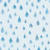 A água deixa cair o teste padrão sem emenda Fundo do pingo de chuva Textura da chuva Foto de Stock Royalty Free