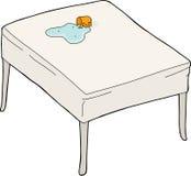 Água derramada na tabela ilustração stock