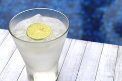Água do coco pela associação azul Fotos de Stock
