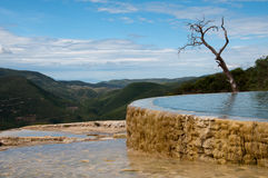 Água do EL de Hierve foto de stock