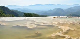A água do EL de Hierve das molas térmicas em Oaxaca é um da maioria de Beau Imagem de Stock