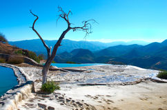 Água do EL de Hierve nos vales centrais de Oaxaca méxico Fotografia de Stock