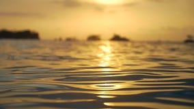Água do mar calma na tarde video estoque