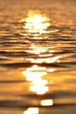 Água do mar no por do sol fotos de stock royalty free