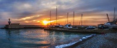 Água do por do sol da natureza de Sochi o Mar Negro Imagem de Stock