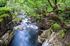 Água do rio de Nevis, Escócia Fotos de Stock Royalty Free