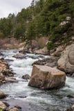 Água do rio de pressa do córrego através da garganta Colorado de onze milhas Foto de Stock Royalty Free