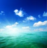 Água dos oceanos imagem de stock