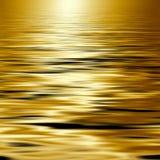 Água dourada Foto de Stock Royalty Free