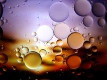 Água e óleo macro da arte Foto de Stock