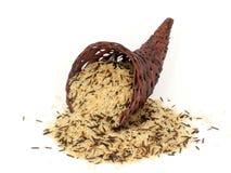 Água-e arroz de grão longo Fotos de Stock