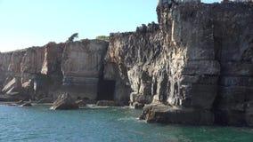 Água e Cliff Formation litoral video estoque