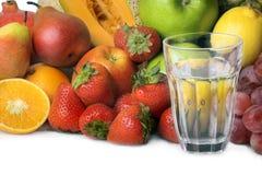 Água e fruta imagens de stock royalty free