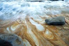 Água e fundo das ondas fotografia de stock