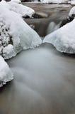 Água e gelo Fotos de Stock Royalty Free