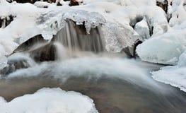 Água e gelo Foto de Stock
