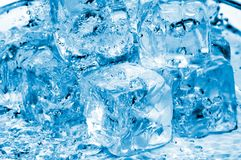 Água e icecubes Fotografia de Stock Royalty Free