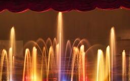 Água e luzes Foto de Stock