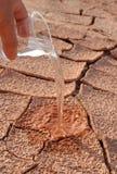 Água e nenhuma água Imagens de Stock