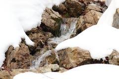 Água e neve Fotografia de Stock Royalty Free